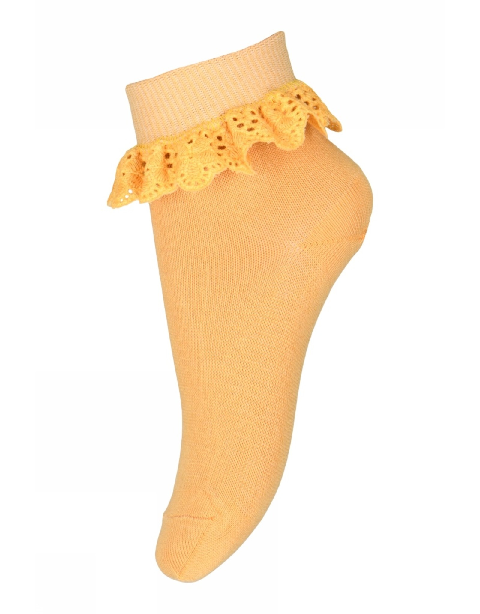 MP Denmark Filippa socks with lace - Orchre