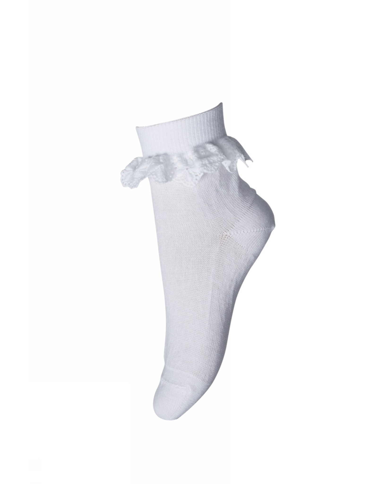 MP Denmark Filippa socks with lace - White