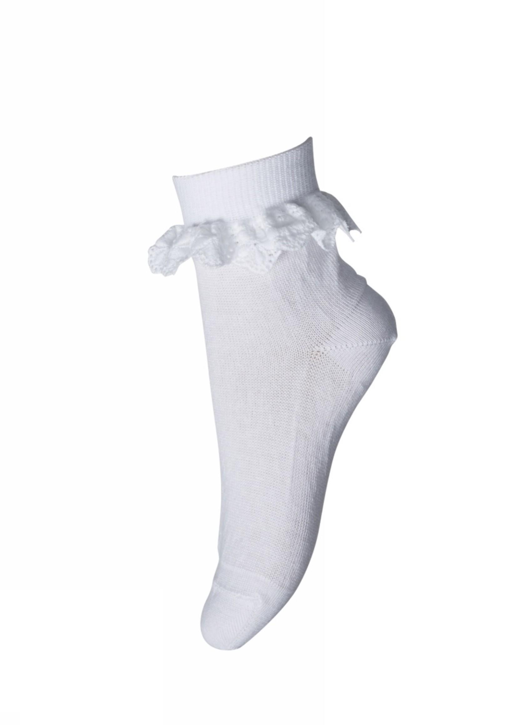 MP Denmark Filippa socks with lace - White