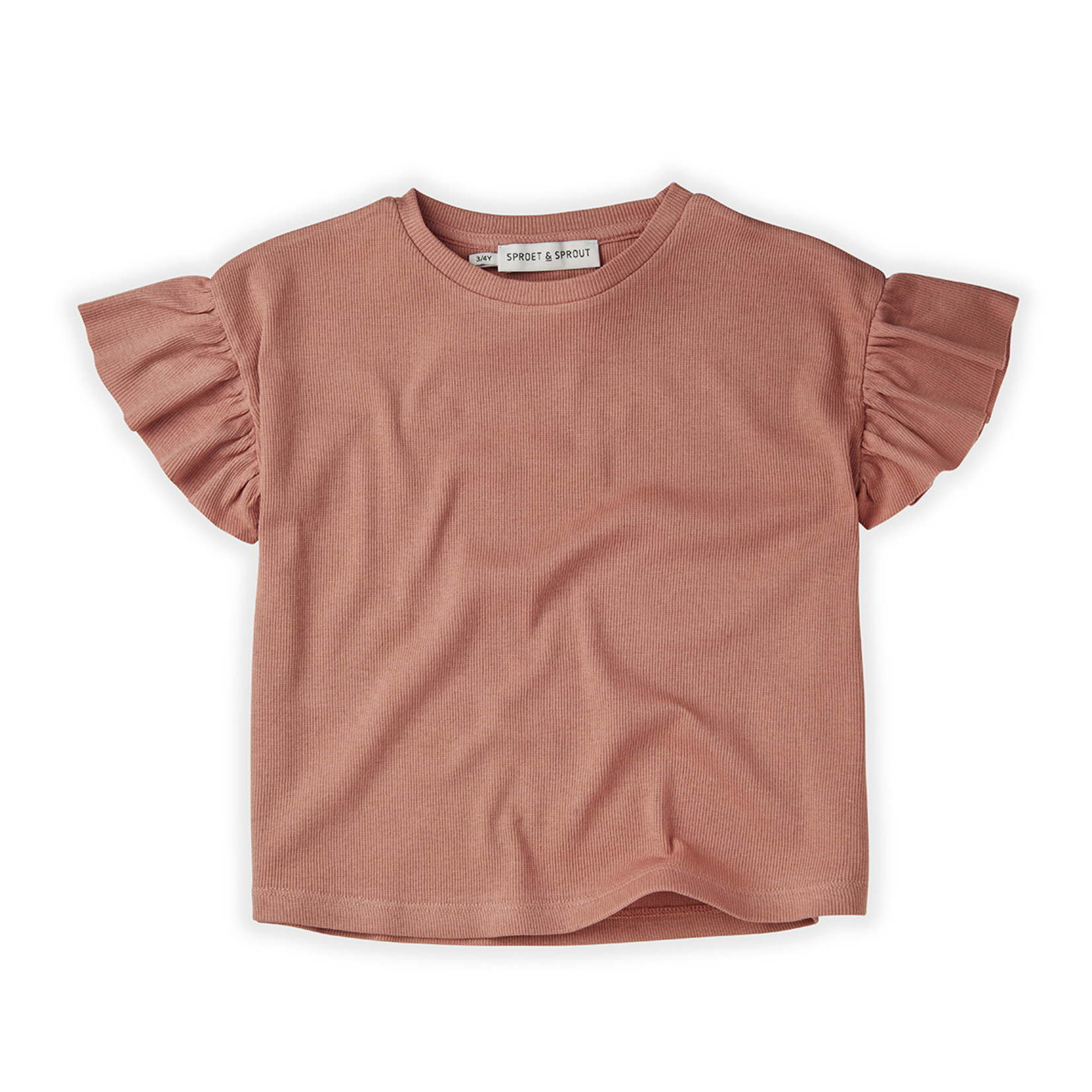 Sproet & Sprout SS - T-Shirt Rib Ruffle Rose