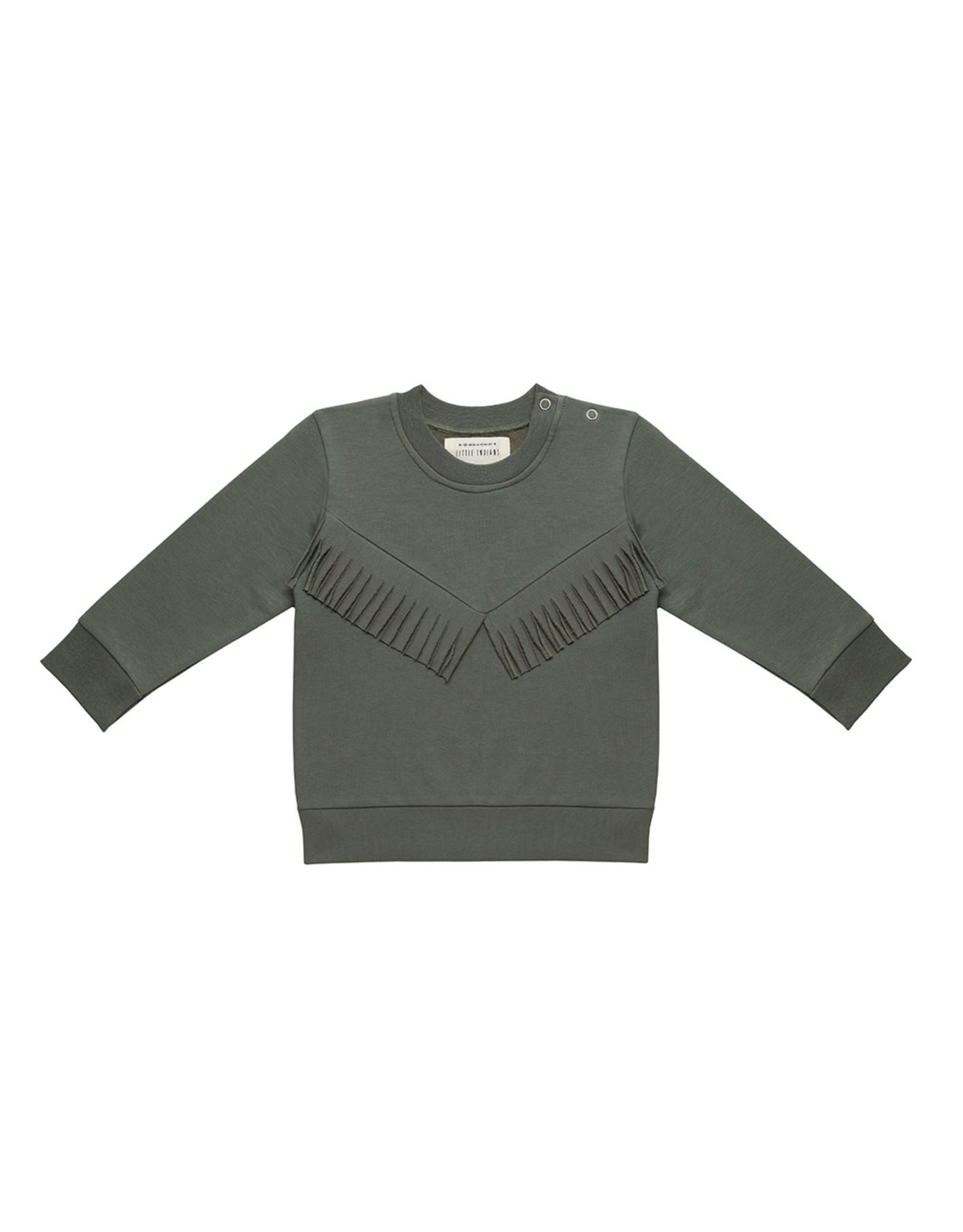 Little Indians LI - Boho Sweater - Dusty Olive