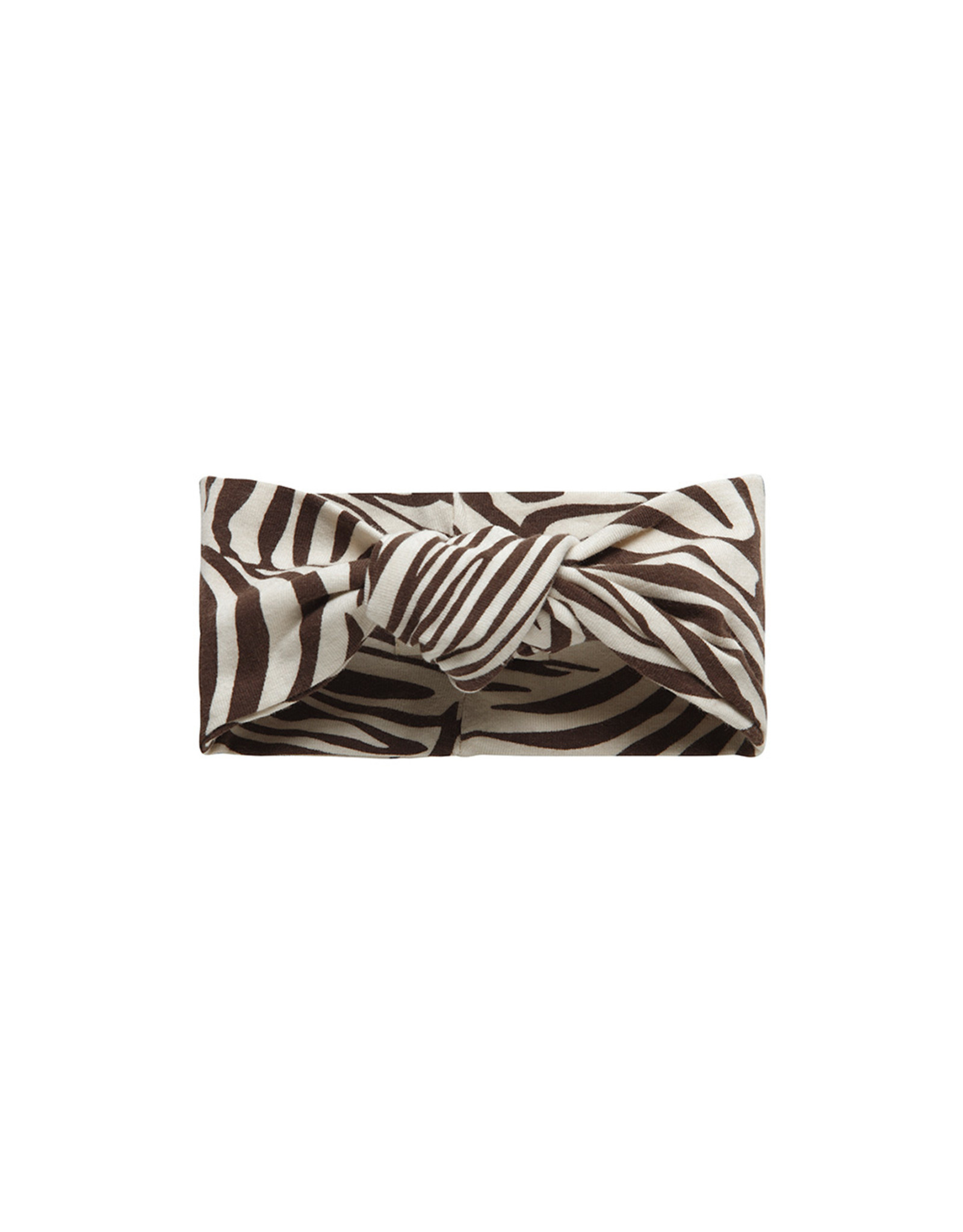 Little Indians LI - Headband Knot Zebra Fondue Fudge