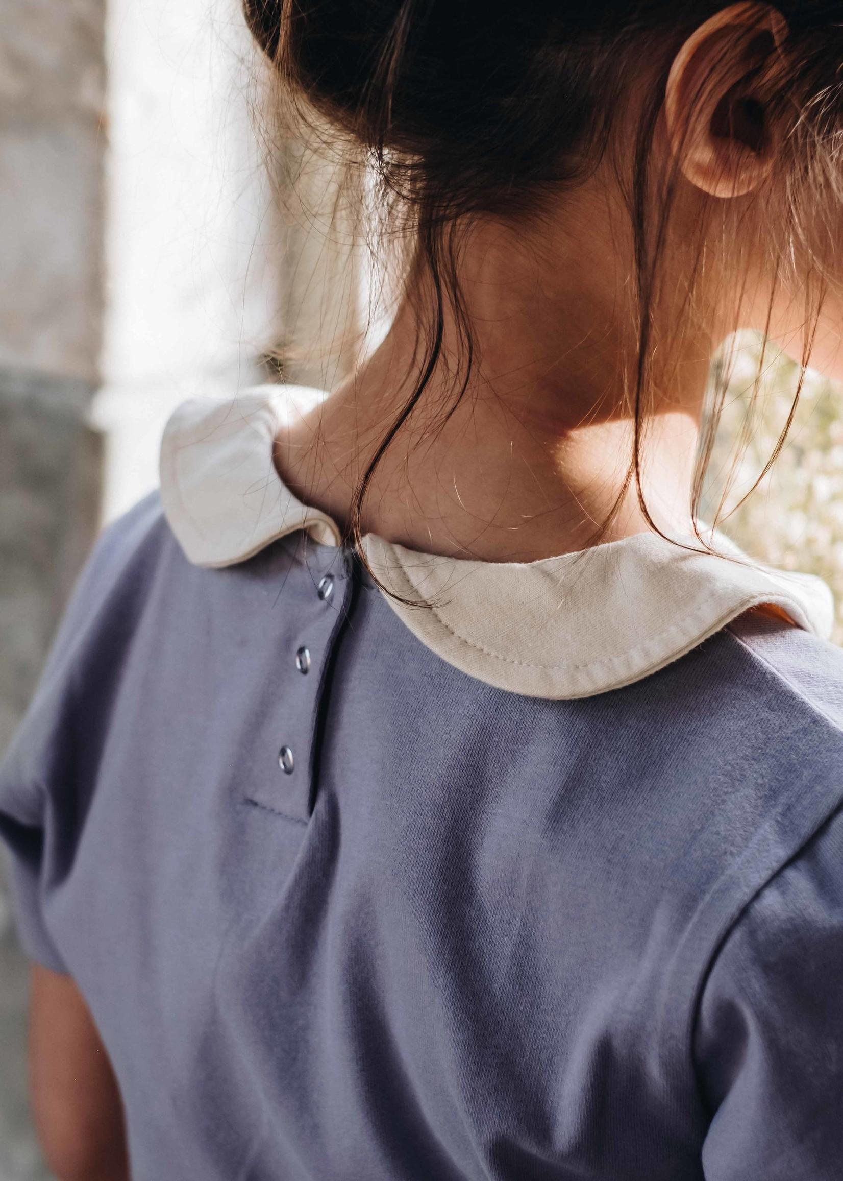 Blossom Kids BK - PeterPan ShirtShortSleeve Lavender Grey