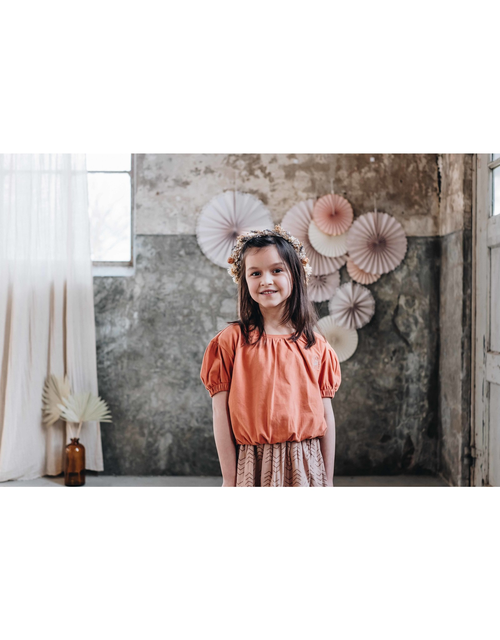 Blossom Kids BK - Cropped top with embroidery - Dusty Coral