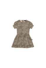 House of Jamie HOJ - Frill Dress Charcoal Little Leopard