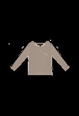House of Jamie HOJ - Long Sleeve Tee Charcoal Sheer Stripes