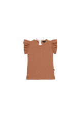 House of Jamie HOJ - Ruffled Tee Burnt Ginger Dots