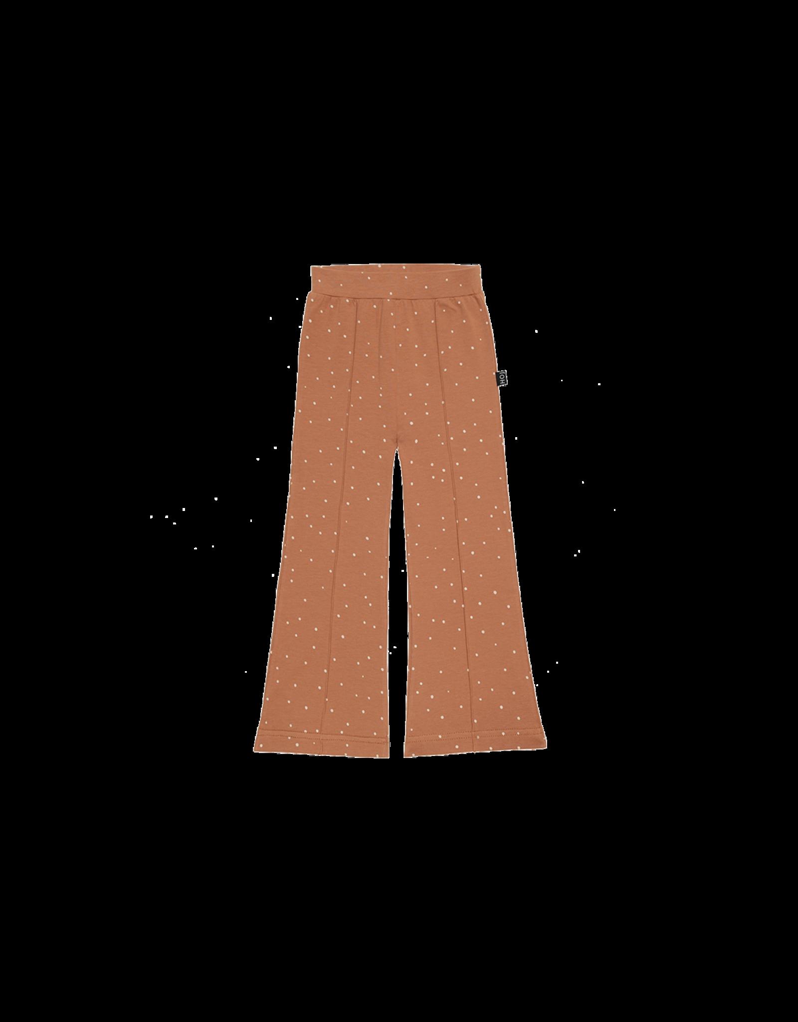 House of Jamie HOJ - Flared Pants Burnt Ginger Dots