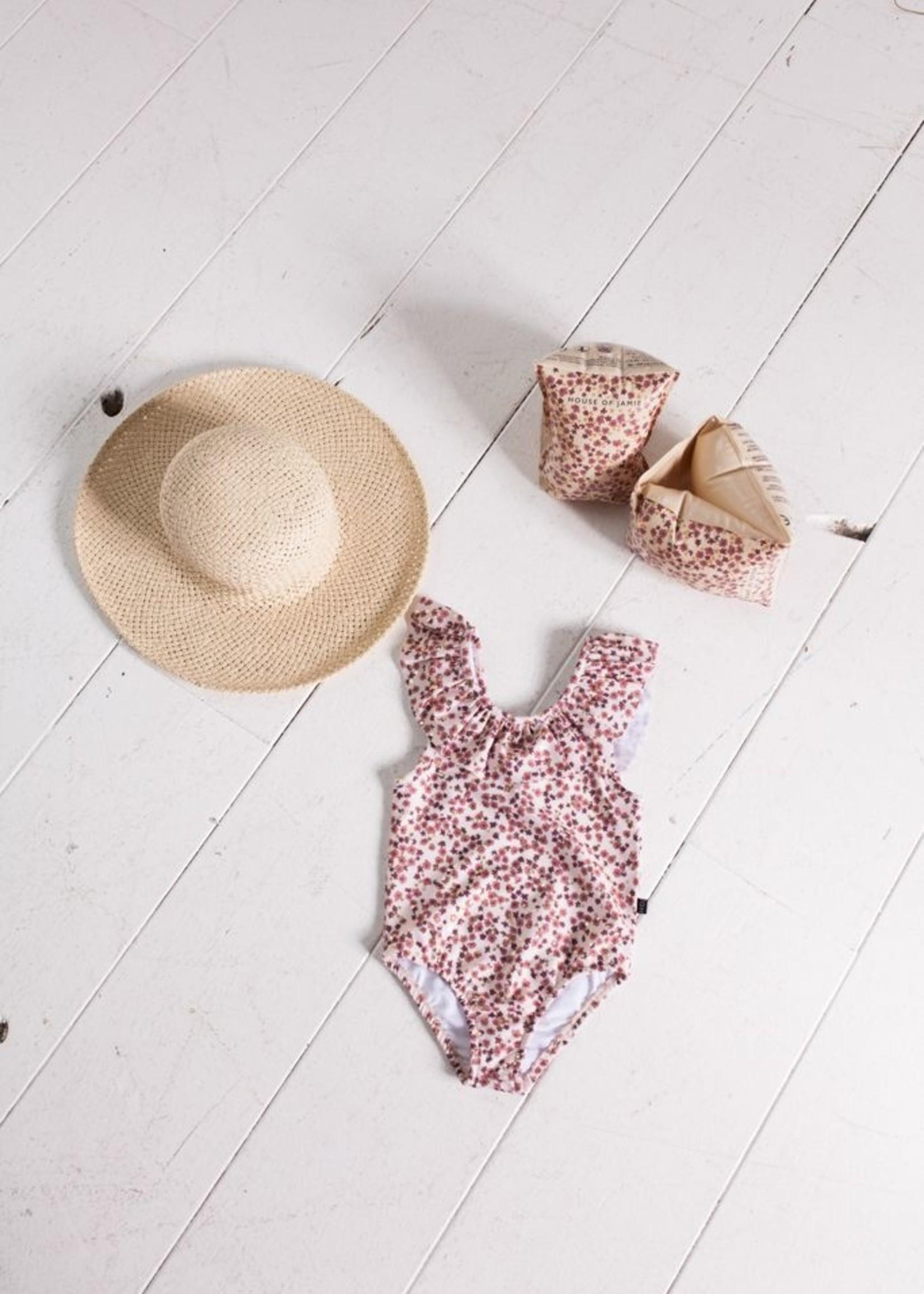 House of Jamie HOJ - Frill Swimsuit Golden Rose Dawn Bloss