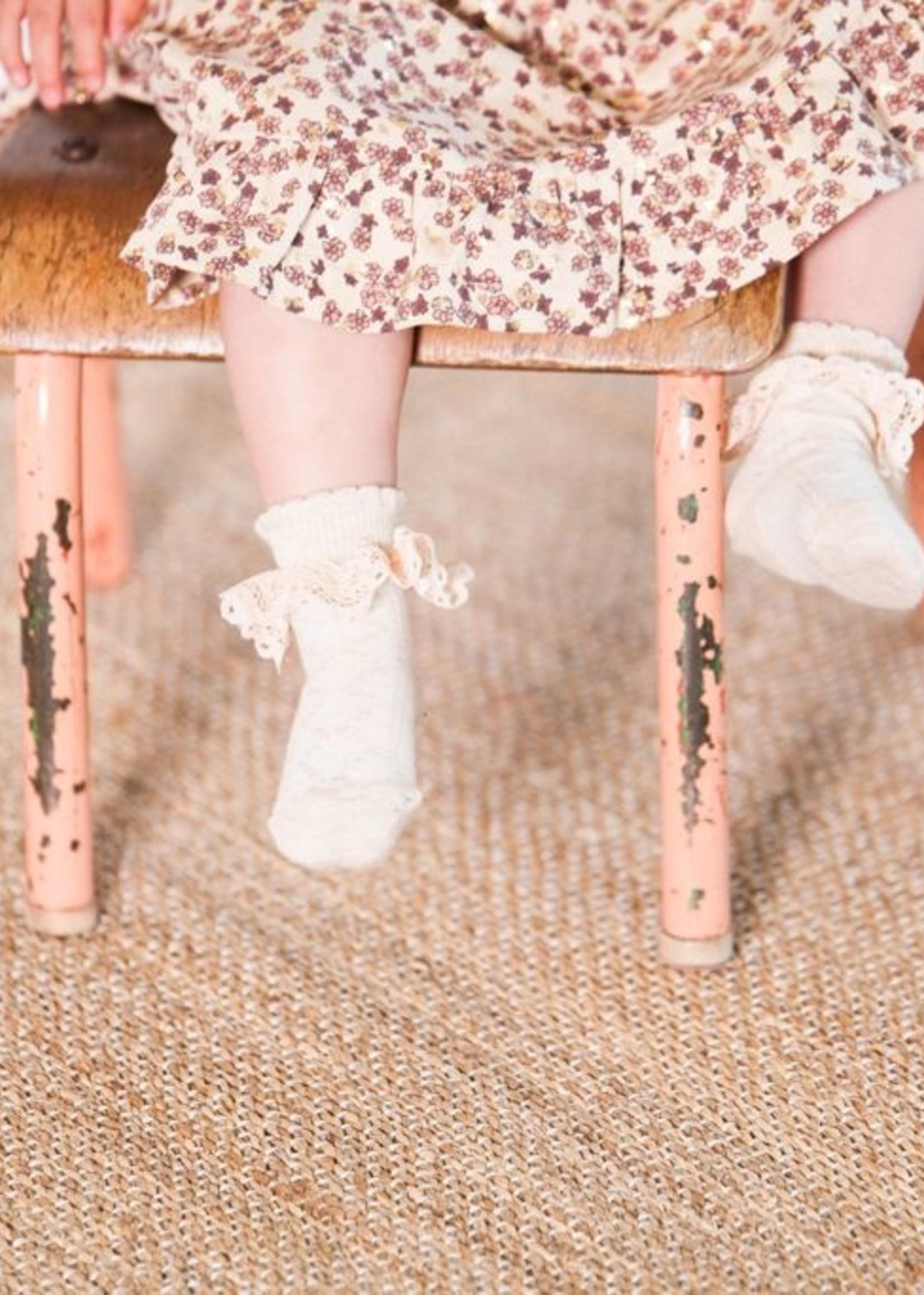 House of Jamie HOJ - Ankle Socks Pelerine Oatmeal & Lace