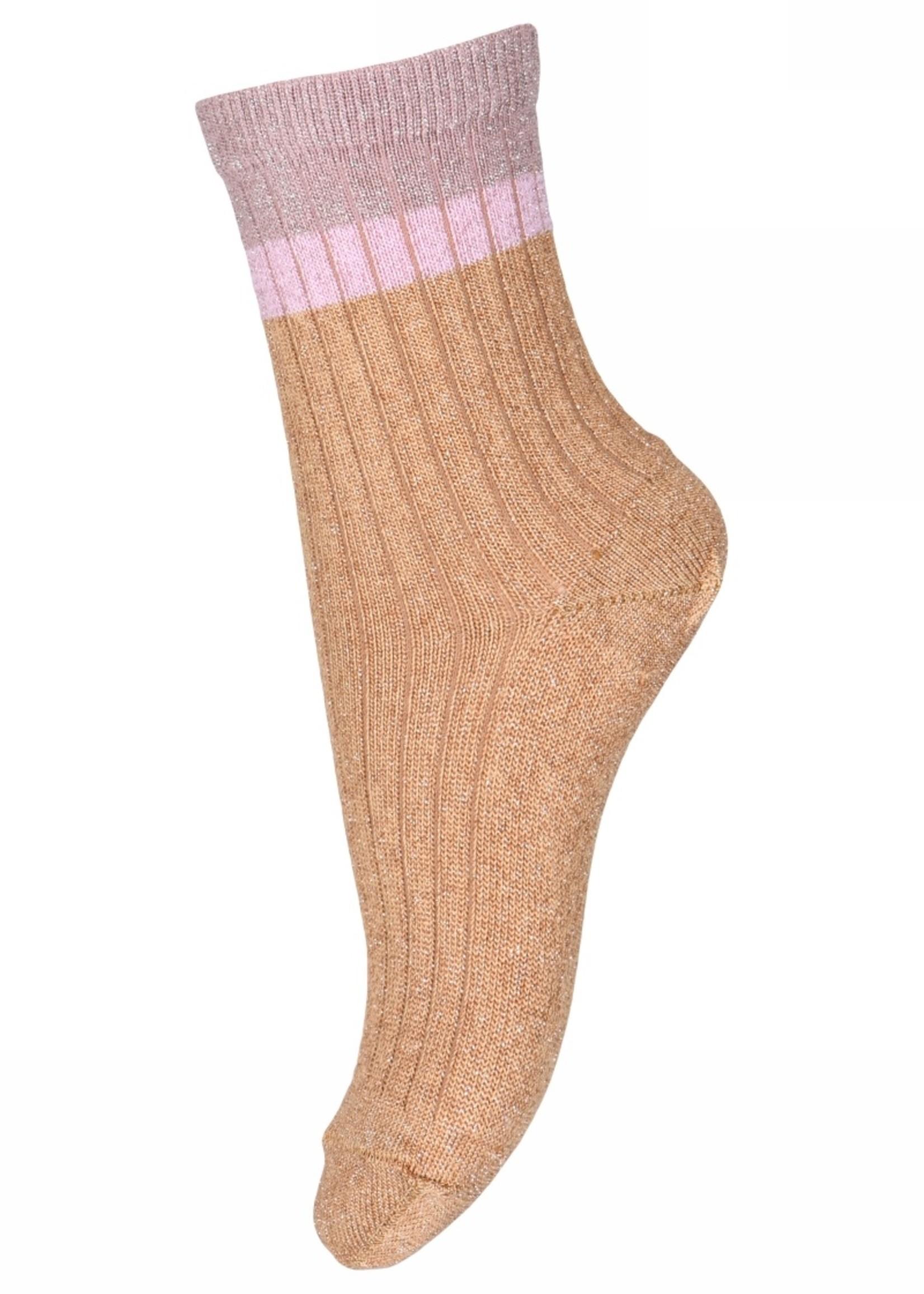 MP Denmark Norma glitter socks - Apple Cinnamon