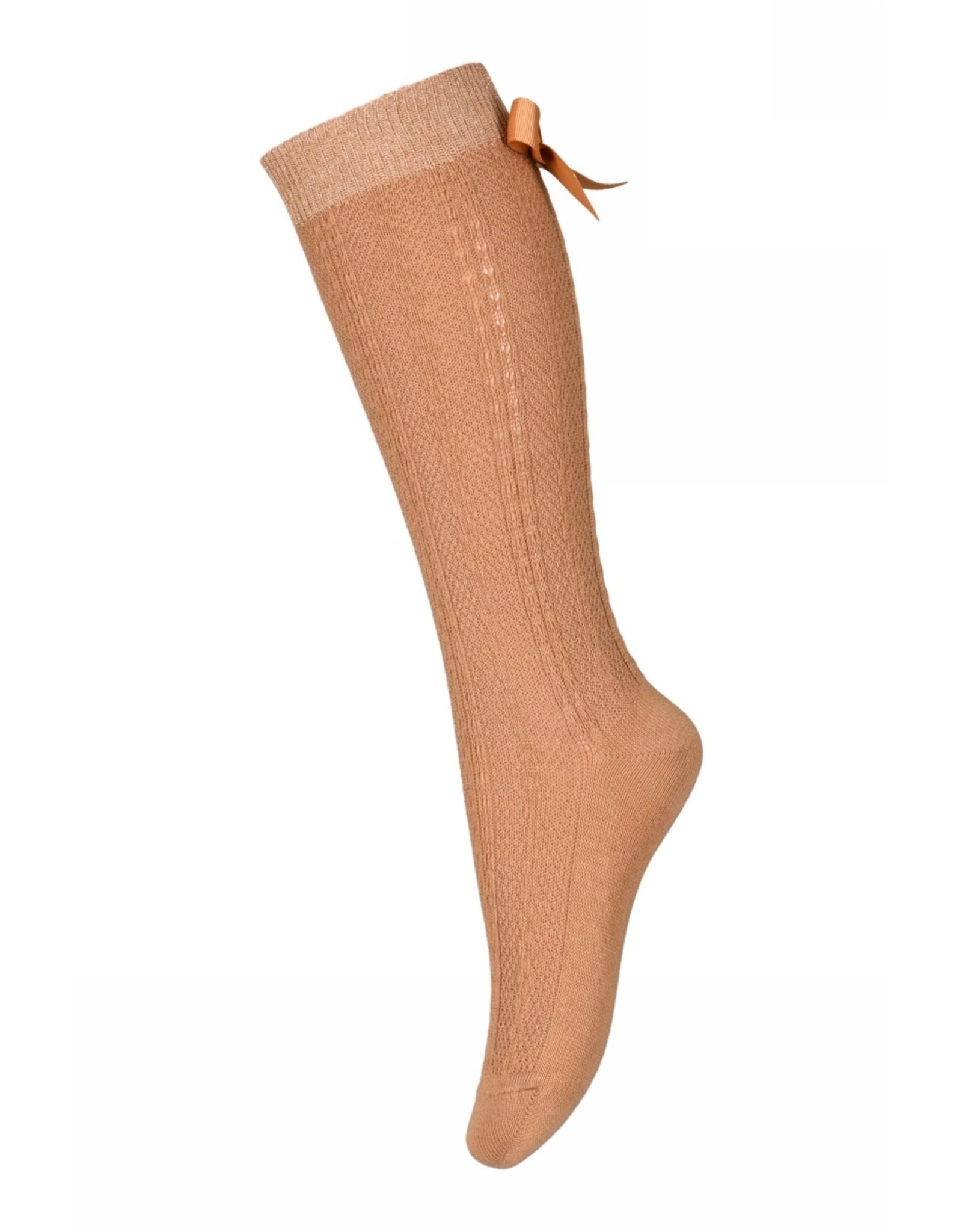 MP Denmark Sofia knee socks with bow - Apple Cinnamon