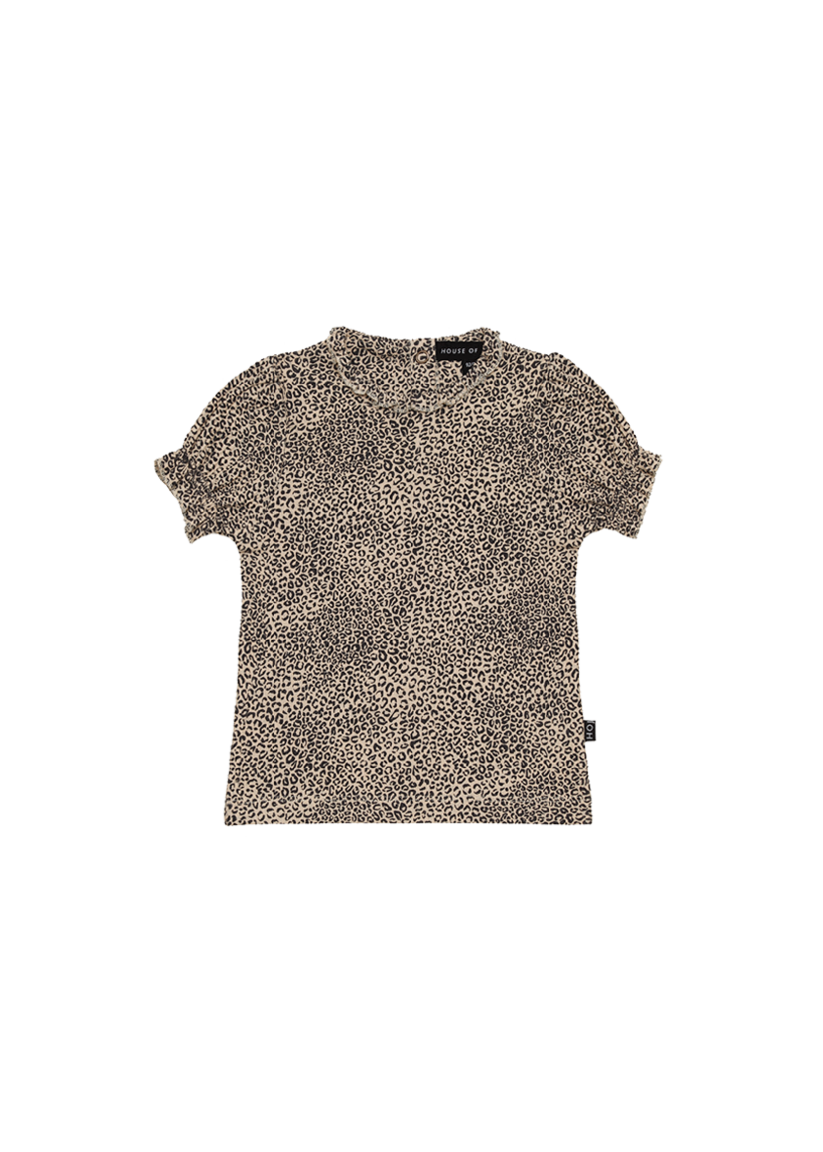 House of Jamie HOJ - Puff Rib Shoulder Tee Charcoal Little Leopard