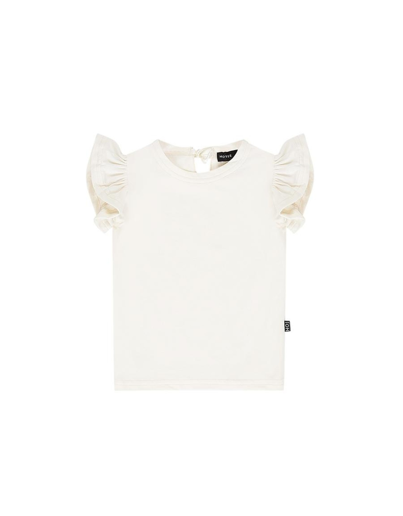 House of Jamie HOJ - Ruffled Tee Cream
