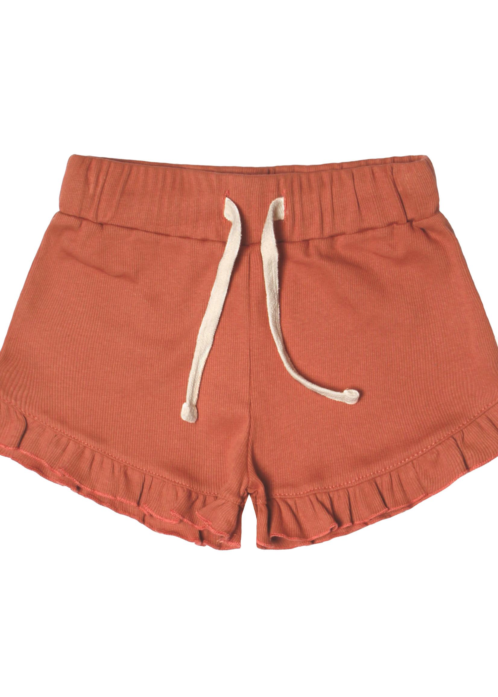 Your Wishes YW - Rib Terra   Ruffle Shorts