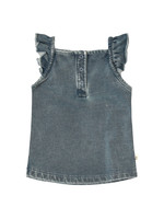 Your Wishes YW - Knitted Denim   Ruffle Singlet