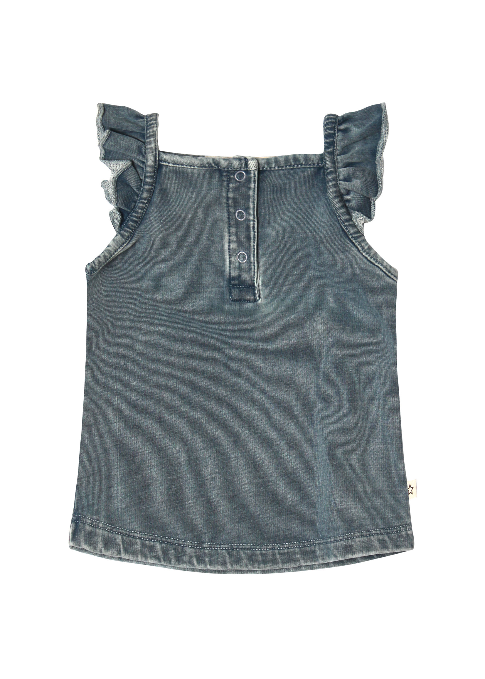 Your Wishes YW - Knitted Denim | Ruffle Singlet