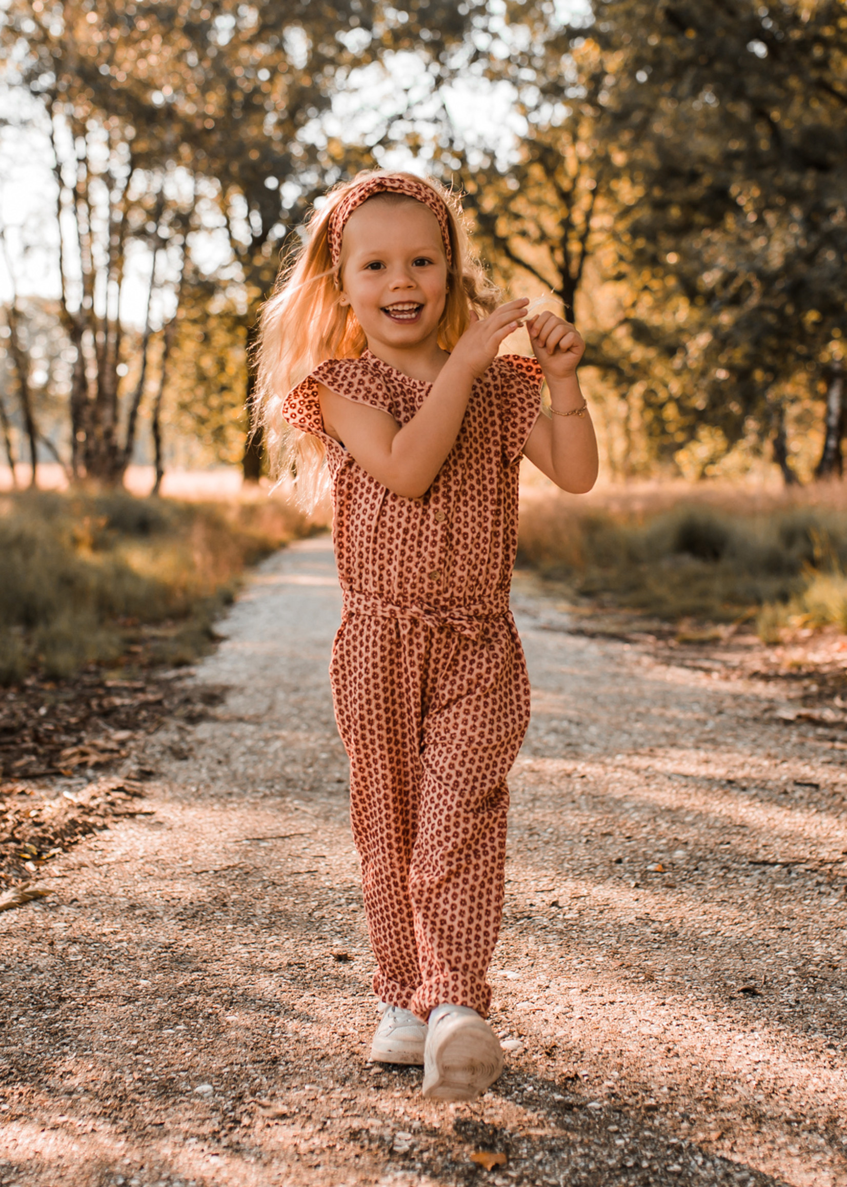Your Wishes YW - Broderie Terra   Ruffle Jumpsuit