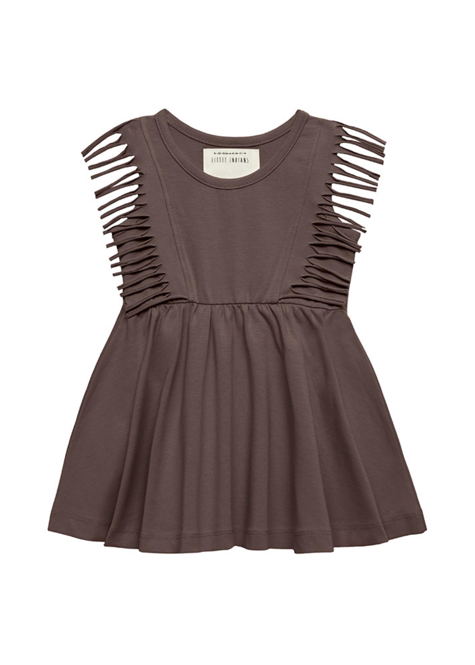 Little Indians LI - Boho Dress Sleeveless - Fondue Fudge