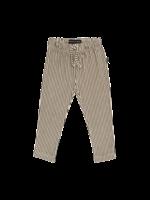 House of Jamie HOJ - Straight Pants Charcoal Sheer Stripes