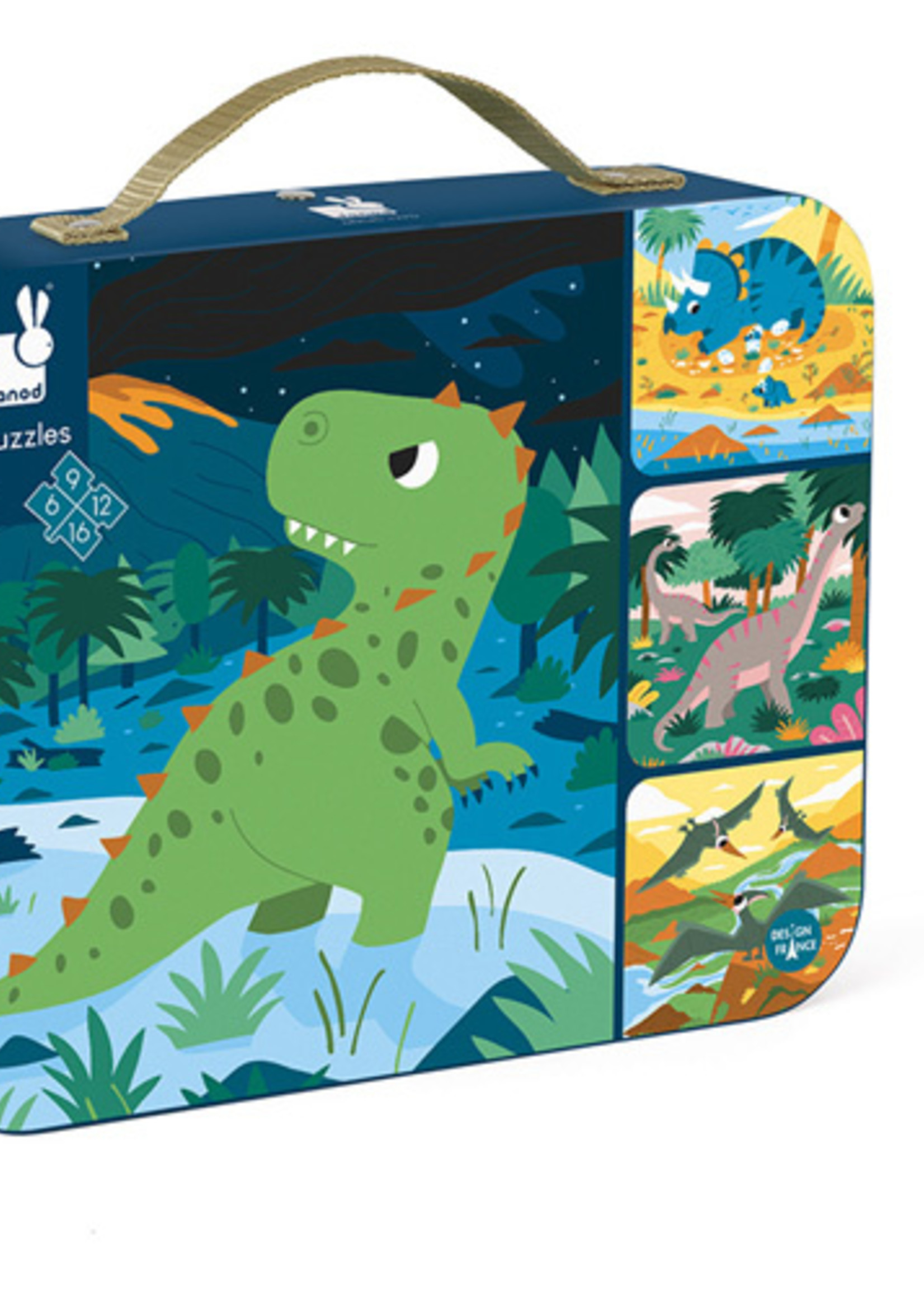 Janod Janod Puzzel - 4 puzzels Dinosaurus