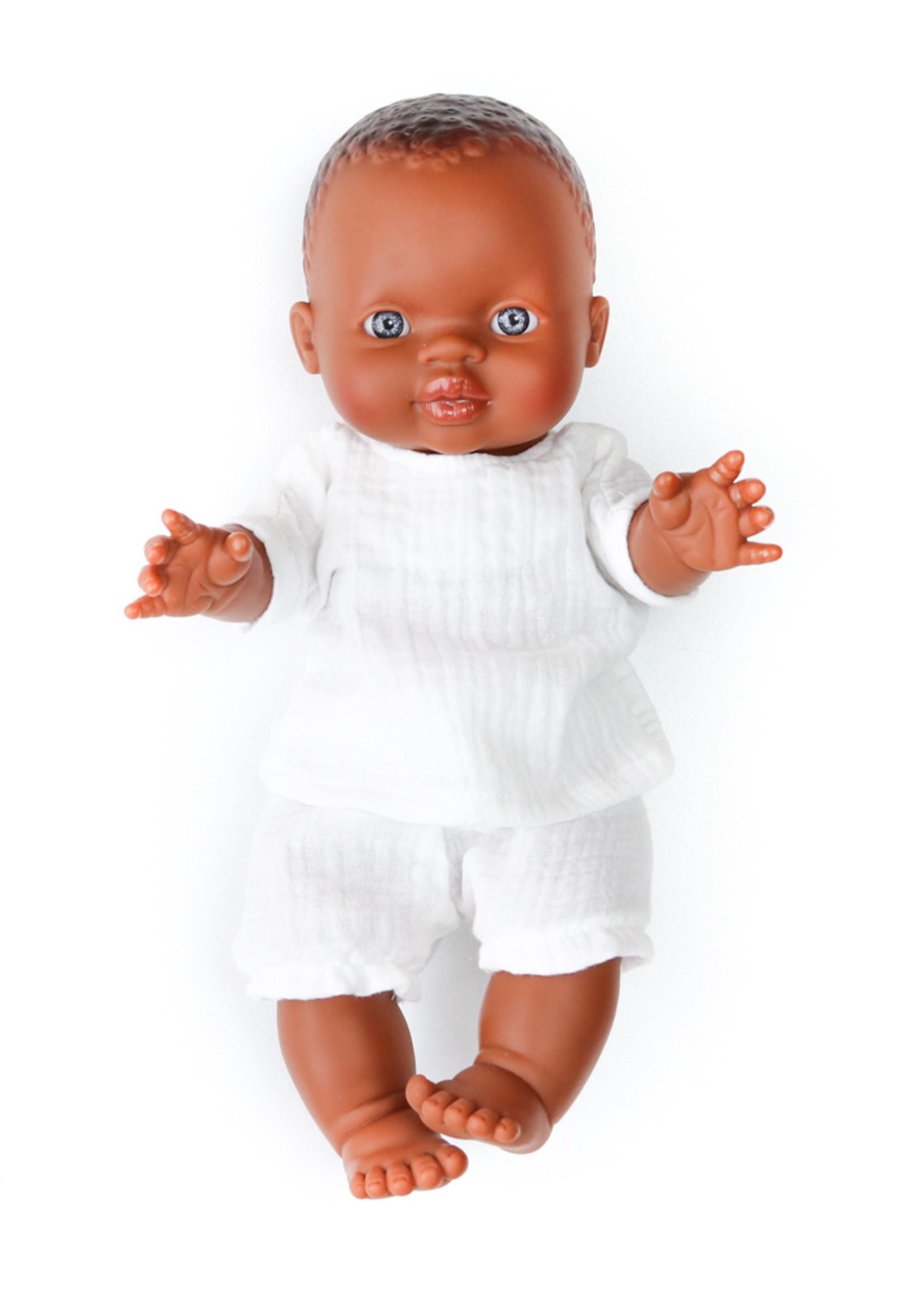 Nuki Nuby Pop - Poppenshirtje korte mouw Wit