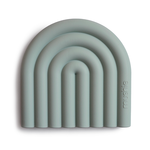 Mushie Mushie - Teether - Rainbow Cambridge Blue