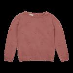 Blossom Kids BK - Knitted jumper - dots - Rose