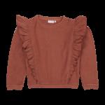 Blossom Kids BK - Volant Sweater - Deep Coral