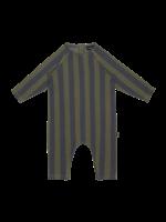 House of Jamie HOJ - Raglan Jumpsuit - Moss & Blue Stripes