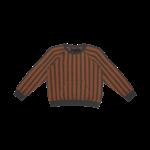 House of Jamie HOJ - Raglan Sweater - Ginger Bread & Granite Stripes