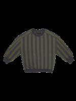 House of Jamie HOJ - Sweatshirt - Moss & Blue Stripes