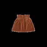 House of Jamie HOJ - Paperbag Skirt - Ginger Bread Rib Velvet