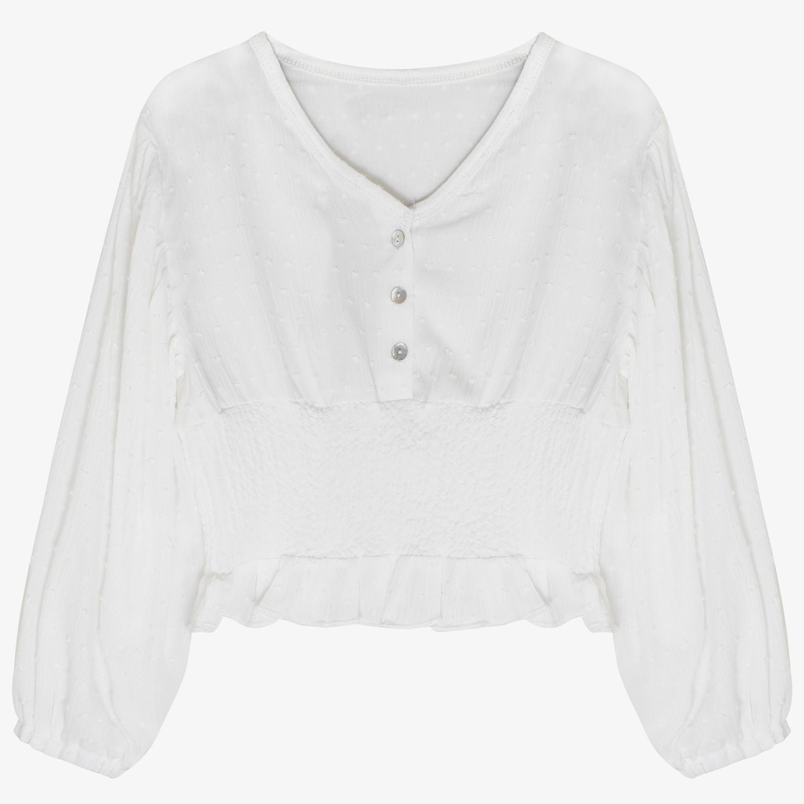 Milk 'n Sugar Milk 'n Sugar - Ruffle blouse Ecru