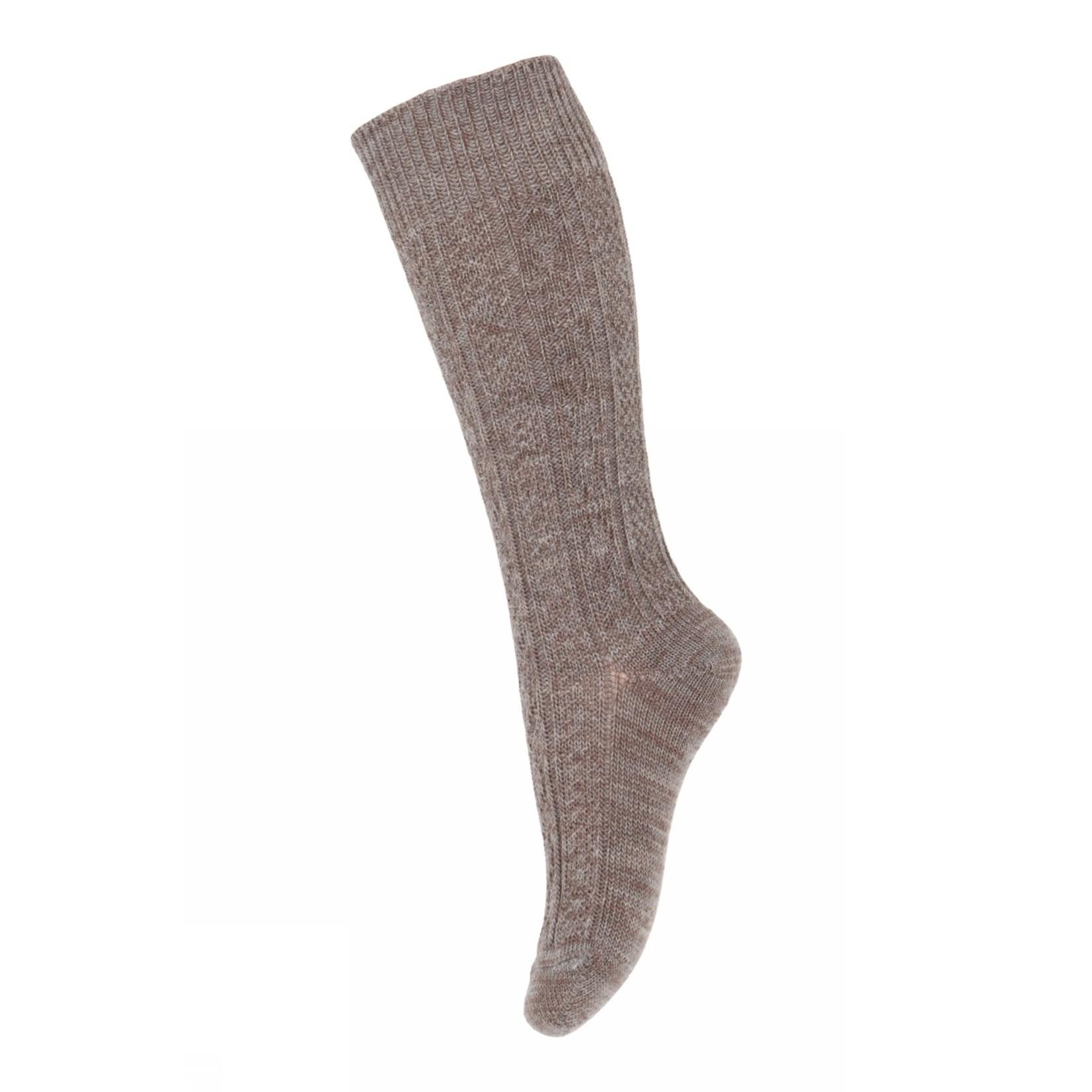 MP Denmark Mp - Wally knee socks - Light Brown Melange