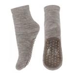MP Denmark Mp - Wool/cotton socks anti-slip - Light Brown Melange