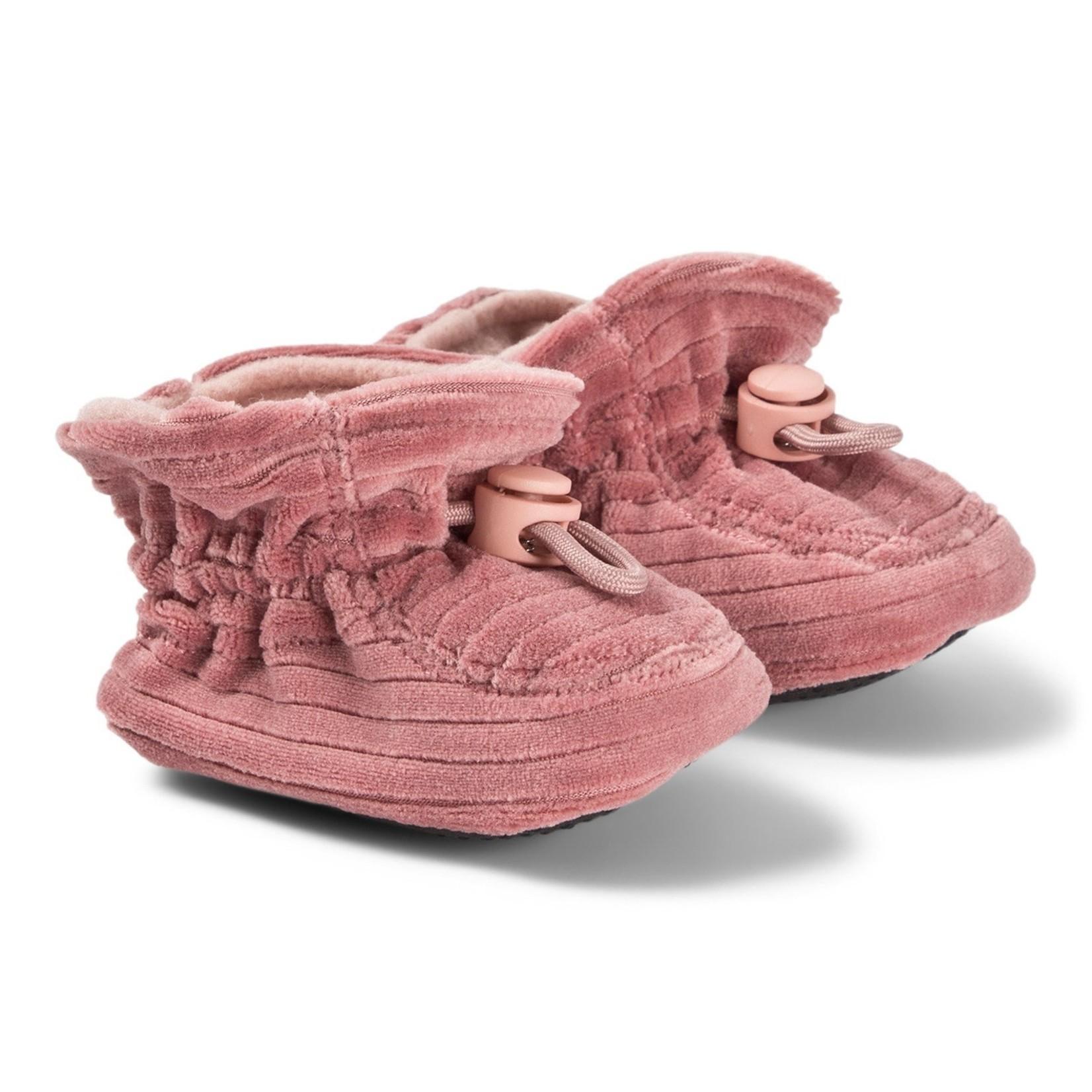 MP Denmark Mp - Velvet slippers - Dark Rose