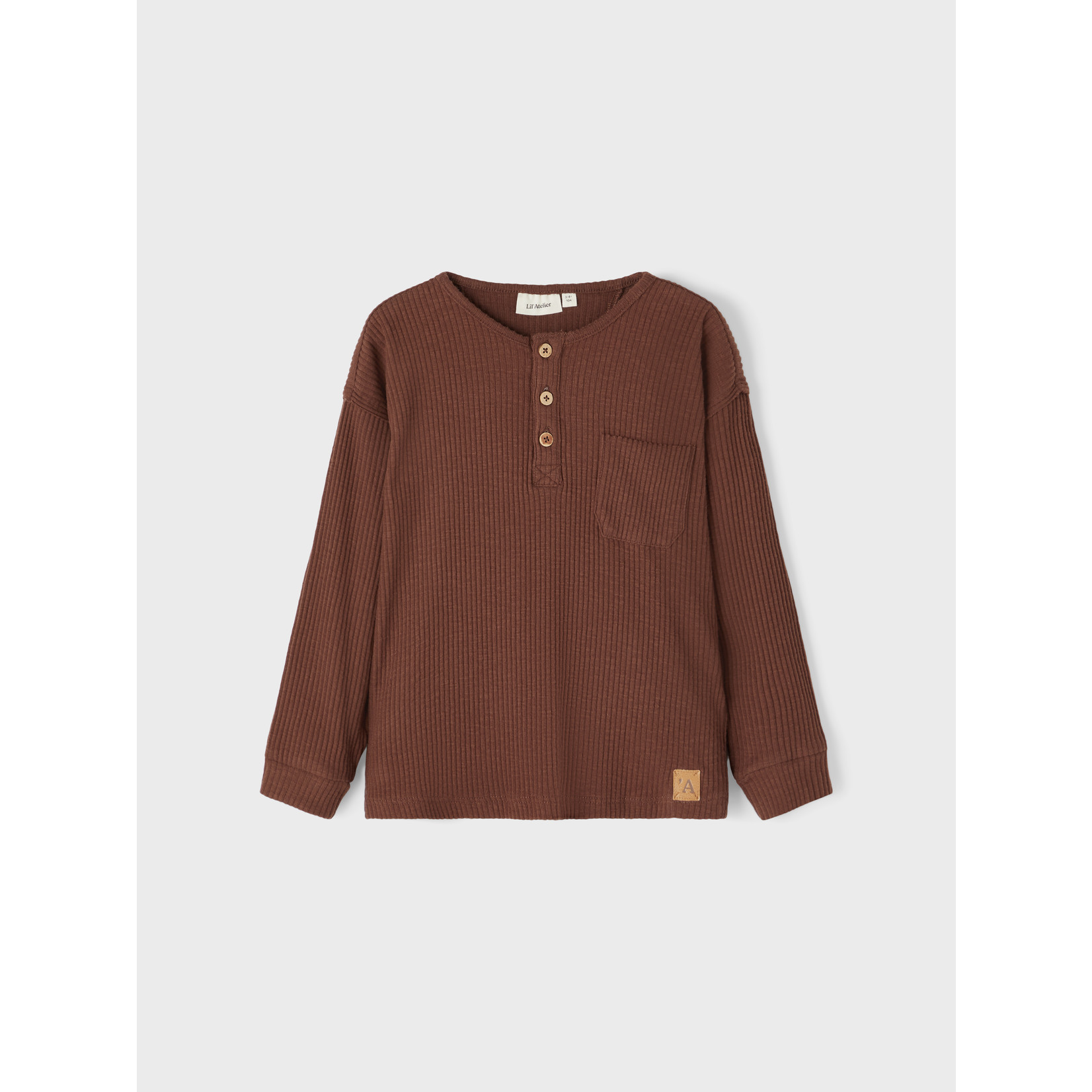 Lil Atelier Lil Atelier - NMMRAJO LS BOXY TOP LIL Chestnut