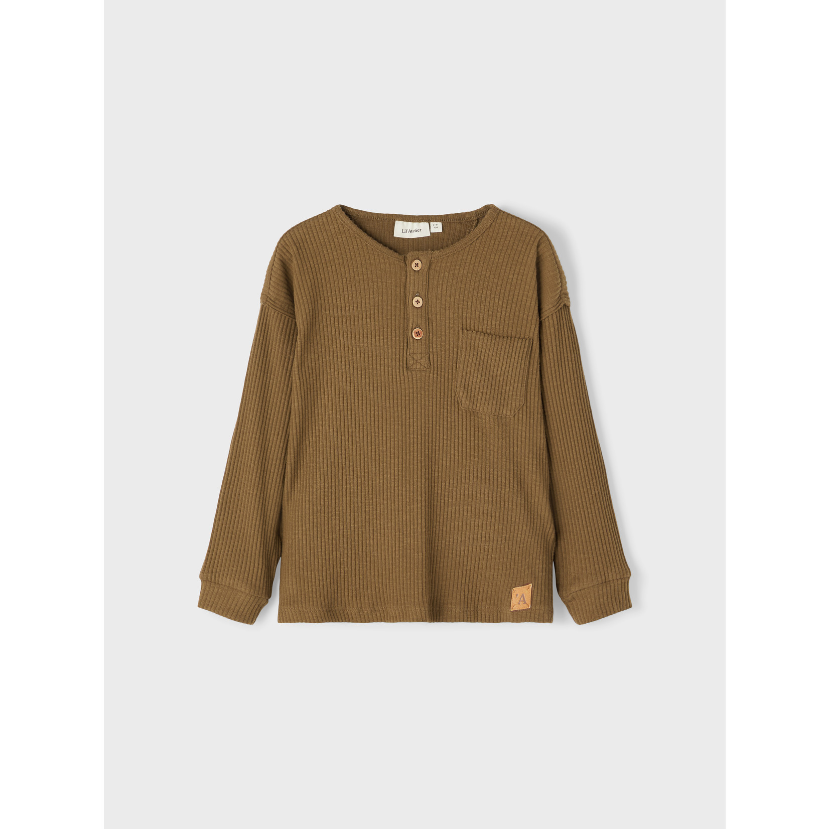 Lil Atelier Lil Atelier - NMMRAJO LS BOXY TOP LIL Otter