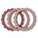 Mushie Mushie - Flower Bracelet (3pack) Blush-Rose-Sh.Sand