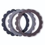 Mushie Mushie - Flower Bracelet (3pack) Steel-DGray-Stone