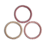Mushie Mushie - Silicone Bracelet (3pack) Linen-Peony-PalePink