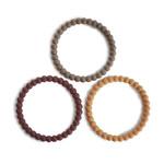Mushie Mushie - Silicone Bracelet (3pack) Berry-Marigold-Khaki