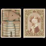 maileg Maileg - Baby mouse in box - sleepy/waky boy