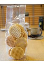 Ambachtelijk gebakken koekjes - Krokant wafeltje met citroencrème  - 125 gr