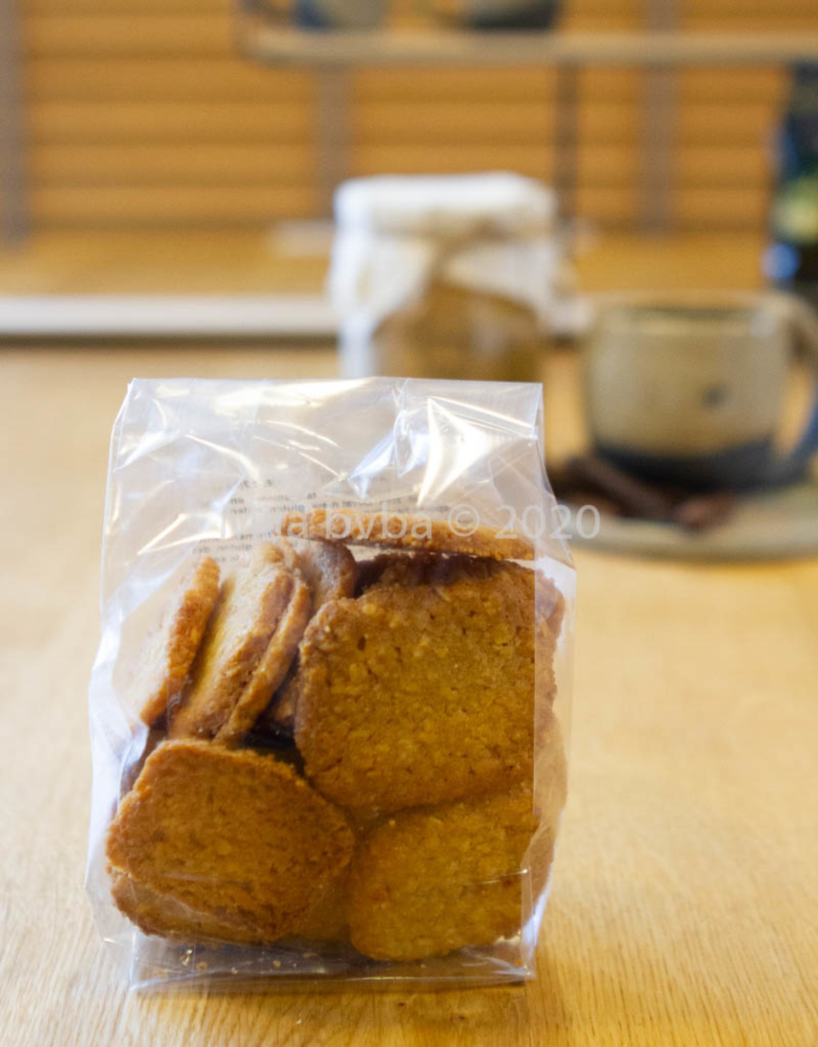 Ambachtelijk gebakken koekjes - Amandelcarré  - 125 gr