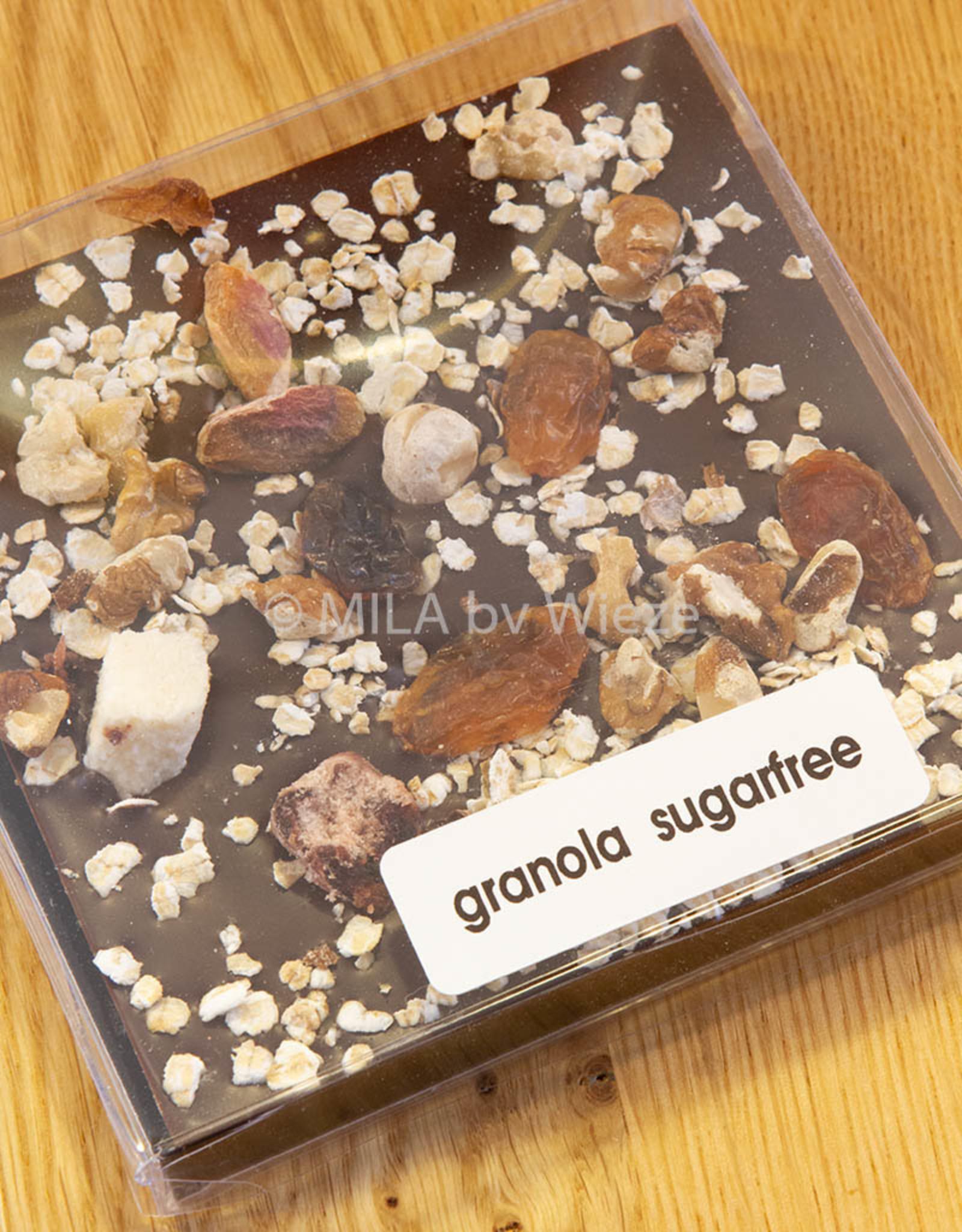 Tablet fondant chocolade met granola - stevia gezoet