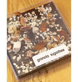 Tablet fondant chocolade met granola