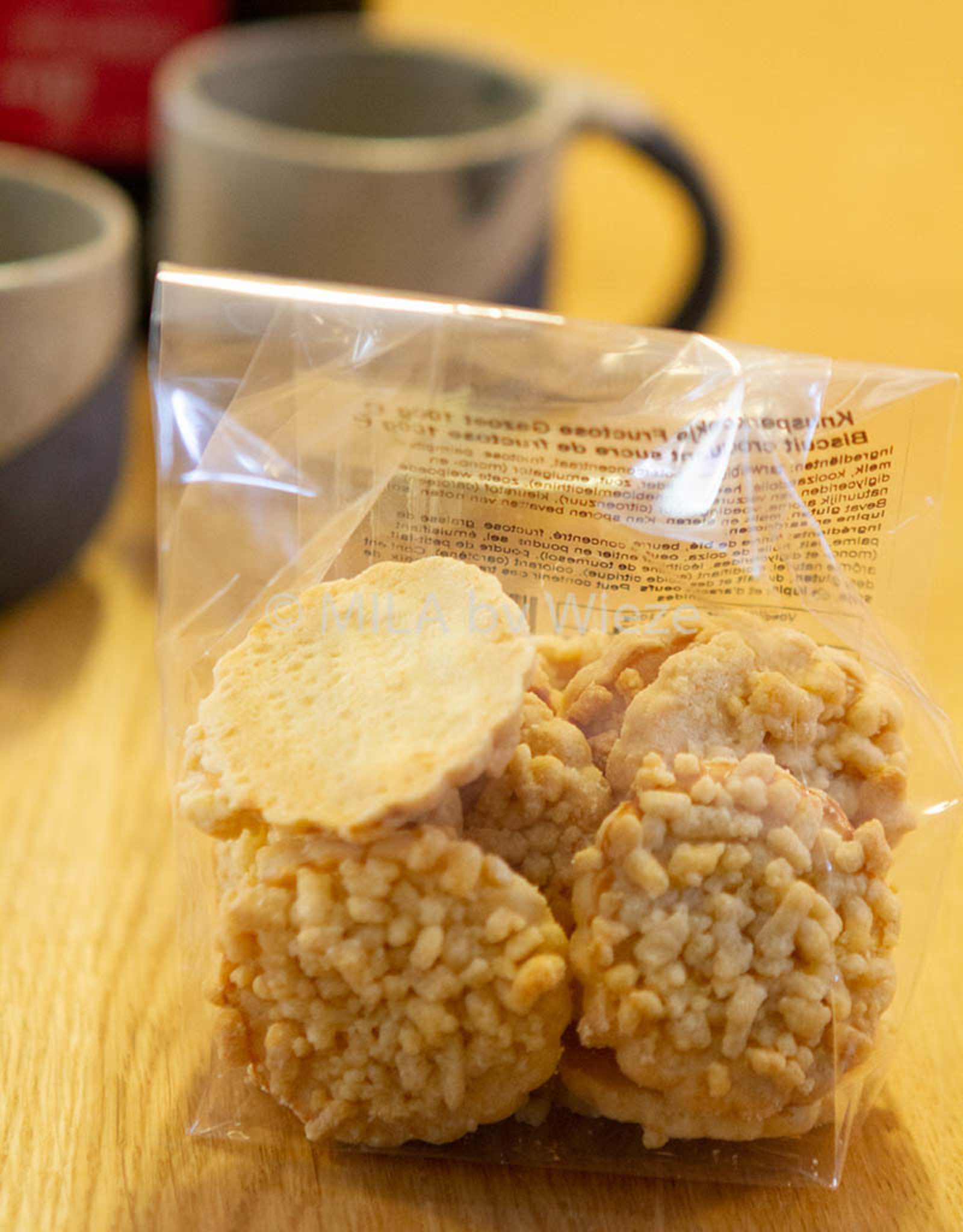 Suikervrije knisperkoekjes 100 gr - fructose gezoet