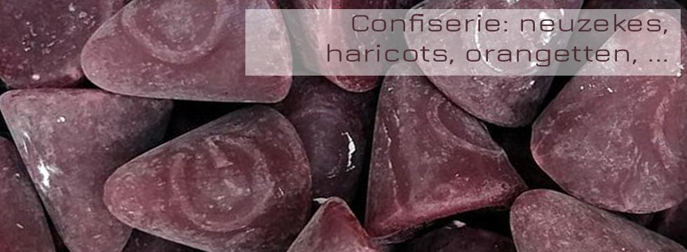 Confiserie; orangetten, agar, neuzekes, rotte patatten, ananaspuntjes, ...